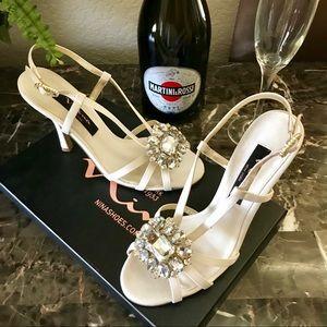 Beautiful Nina Rhinestone Evening Heels Shoes 👠